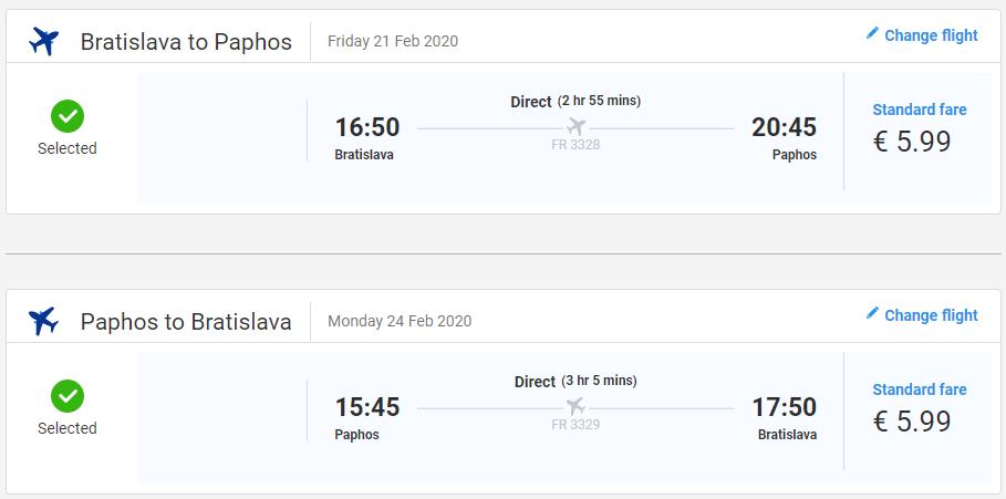 Paphos z Bratislavy na predĺžený víkend od 12 eur