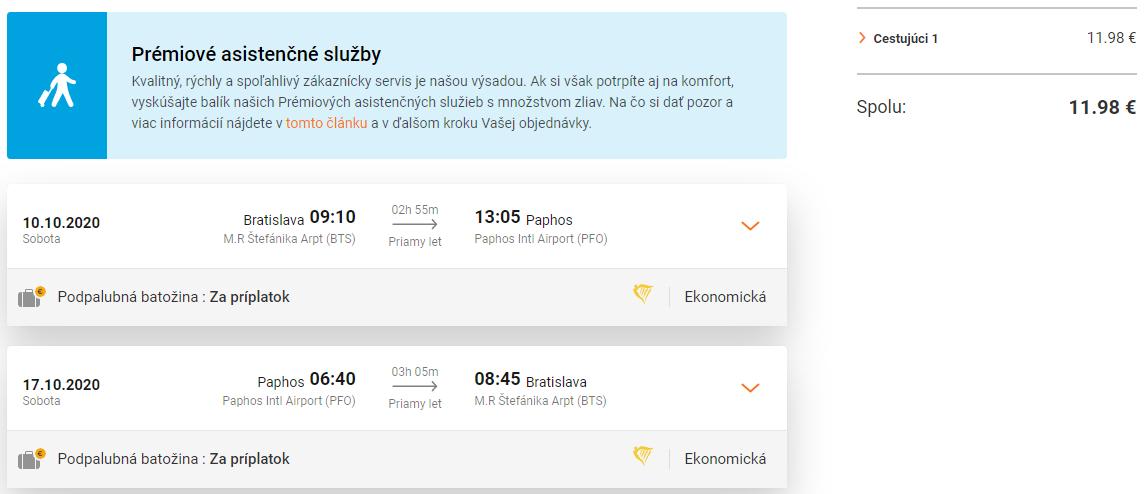Paphos z Bratislavy s letenkami od 12 eur