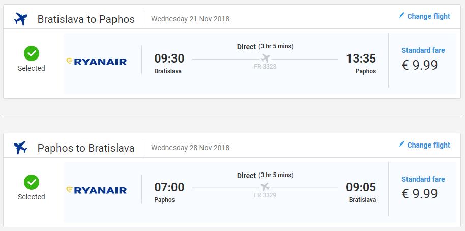 Paphos z Bratislavy s letenkami od 20 eur