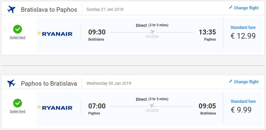 Paphos z Bratislavy s letenkami od 23 eur