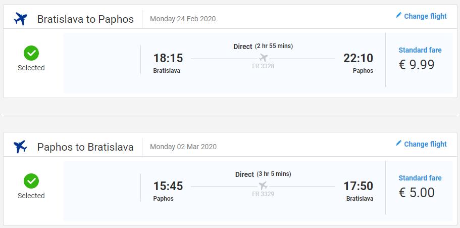 Paphos z Bratislavy s letenkami už od 15 eur