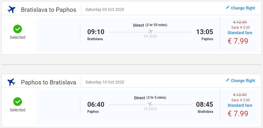 Paphos z Bratislavy s letenkami už od 16 eur
