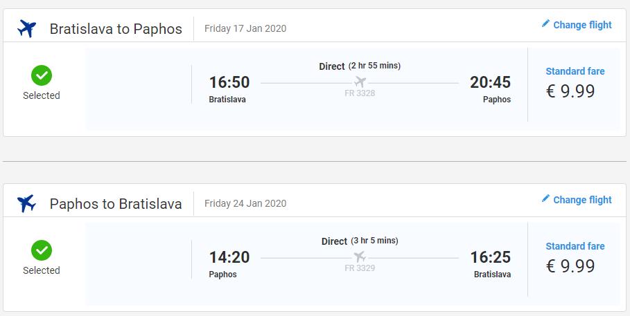 Paphos z Bratislavy s letenkami už od 20 eur