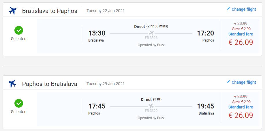 Paphos z Bratislavy začiatkom leta s letenkami od 52 eur