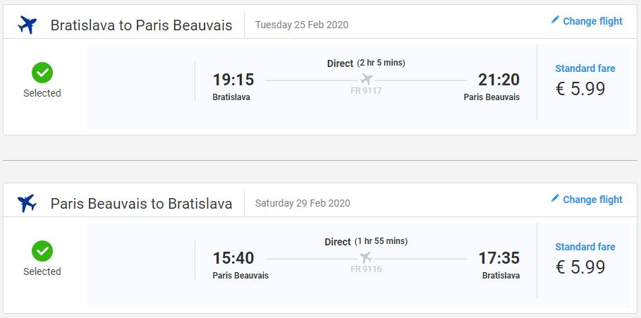 Paríž z Bratislavy s letenkami od 12 eur
