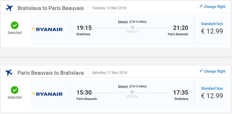Paríž z Bratislavy v jesenných termínoch s letenkami už od 26 eur
