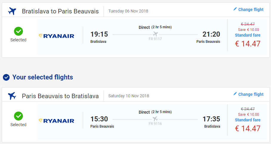 Paríž z Bratislavy v jesenných termínoch s letenkami už od 29 eur