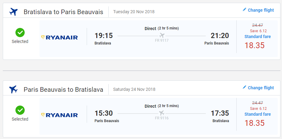 Paríž z Bratislavy v jesenných termínoch s letenkami už od 37 eur
