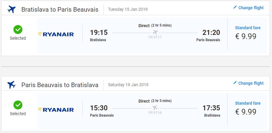 Paríž z Bratislavy začiatkom roka s letenkami už od 20 eur