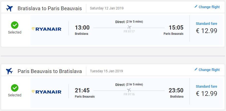 Paríž z Bratislavy začiatkom roka s letenkami už od 26 eur