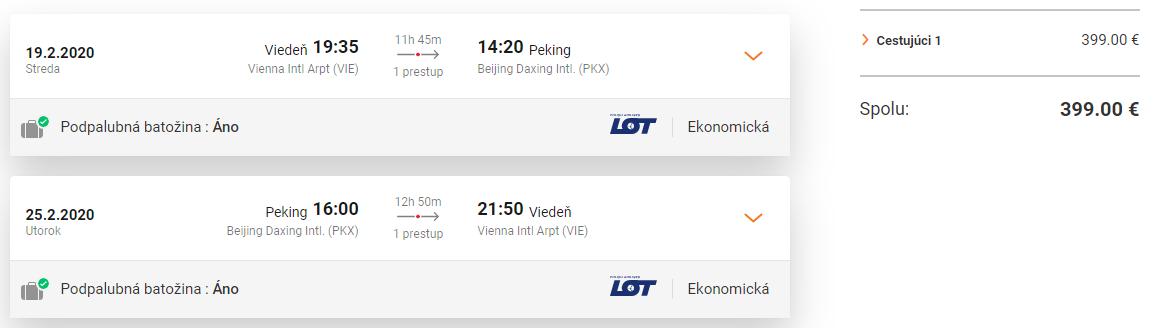 Peking z Viedne s letenkami od 399 eur