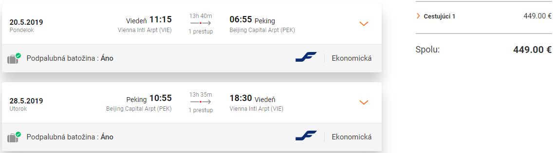 Peking z Viedne s letenkami od 449 eur