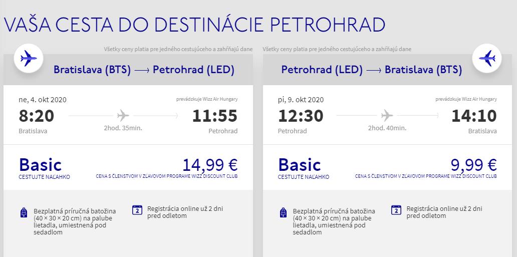 Petrohrad z Bratislavy s letenkami od 25 eur