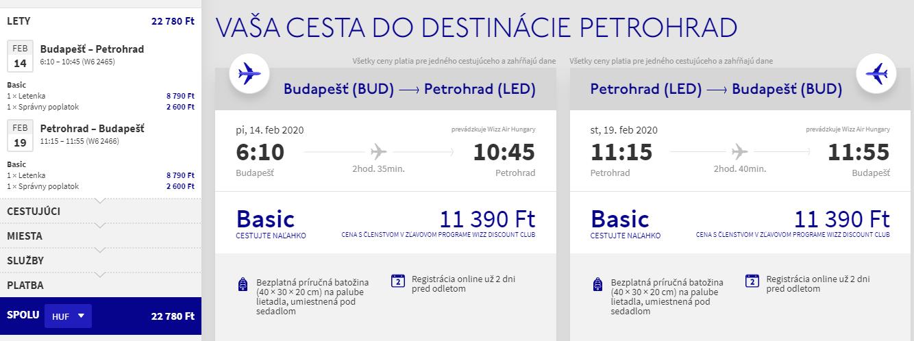 Petrohrad z Budapešti s letenkami nie len na predĺžený víkend od 69 eur