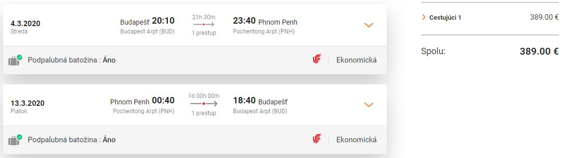 Phnom Penh z Budapešti s letenkami od 389 eur