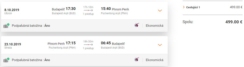 Phnom Penh z Budapešti s letenkami od 499 eur