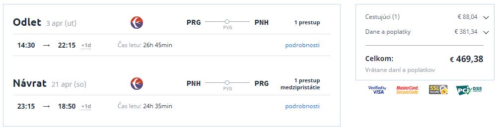 Phnom Penh z Prahy s letenkami od 469 eur