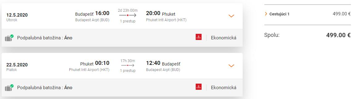 Phuket a k tomu 2 dni v Dubaji s letenkami od 499 eur