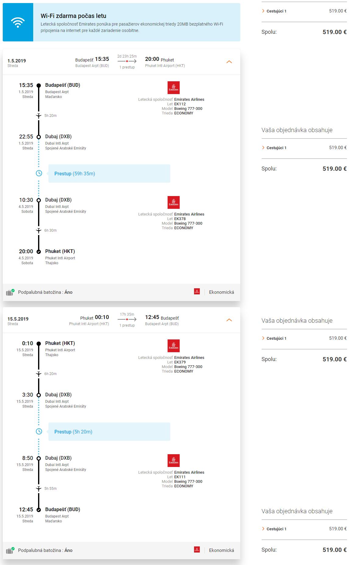 Phuket a k tomu 2 dni v Dubaji s letenkami od 519 eur