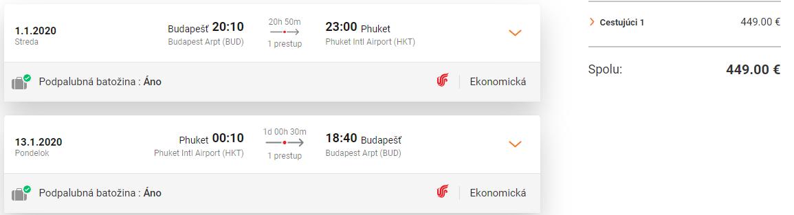 Phuket z Budapešti počas hlavnej sezóny s letenkami od 429 eur