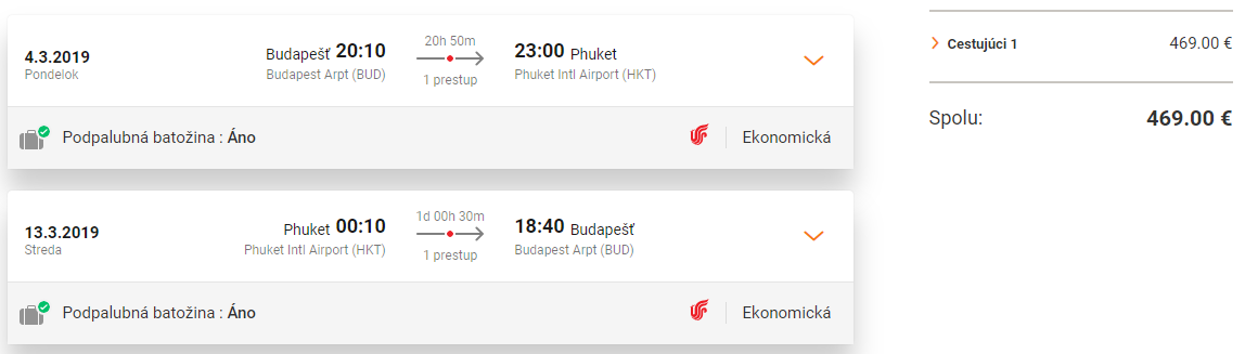 Phuket z Budapešti s letenkami od 469 eur
