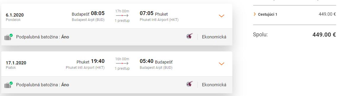 Phuket z Budapešti s letenkami od Qatar Airways od 449 eur