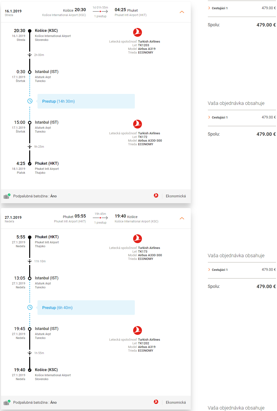 Phuket z Košíc s letenkami od Turkish Airlines od 479 eur