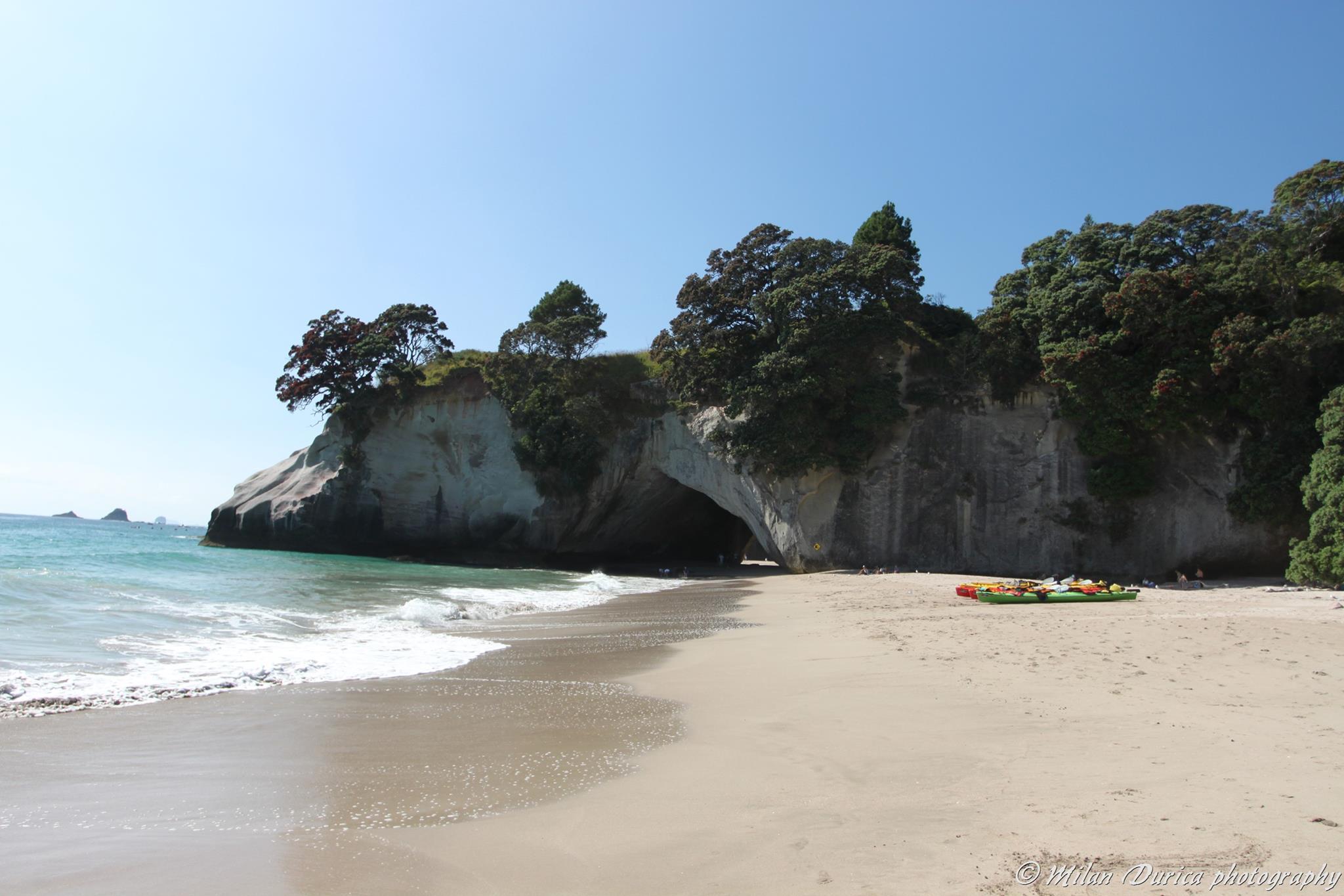 Pláže na poloostrove Coromandel