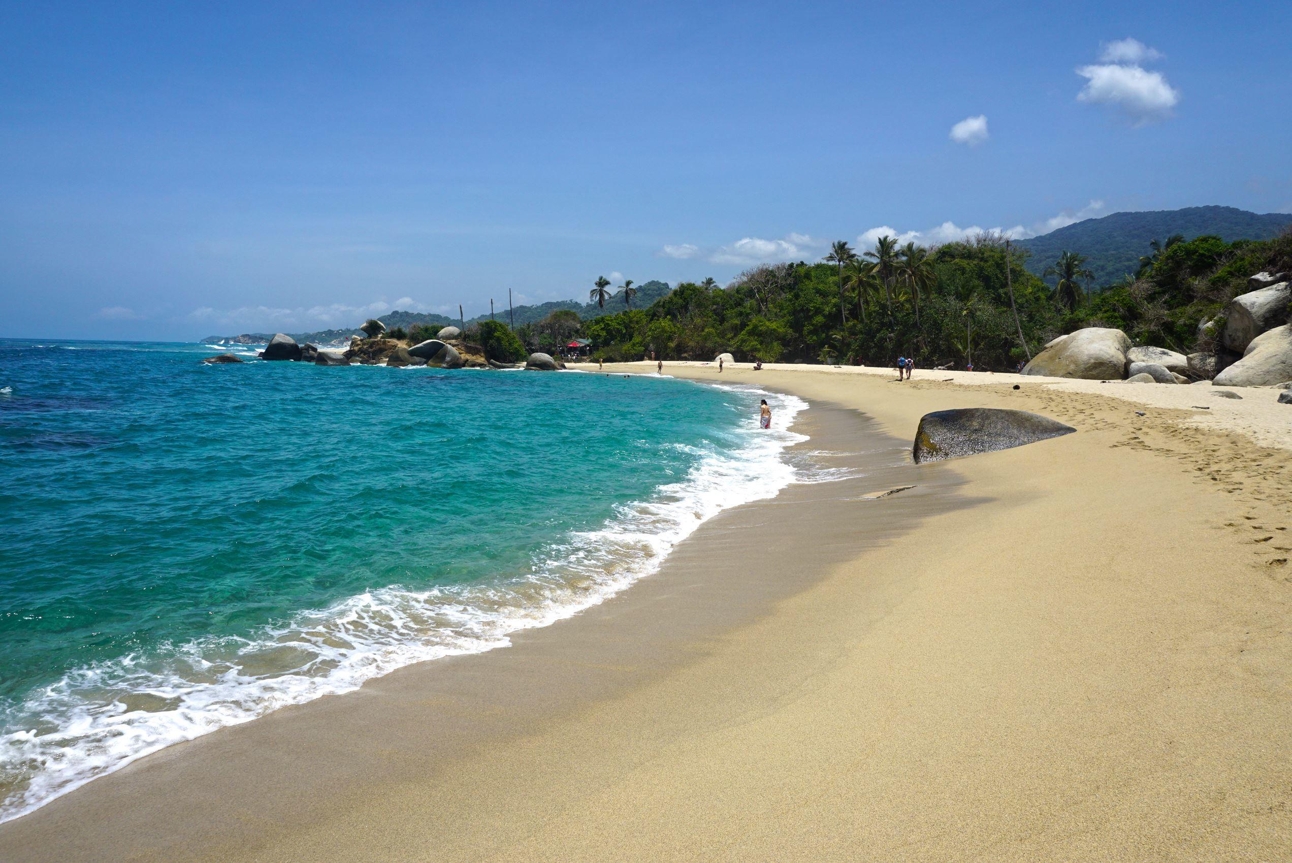 Pláž Arrecifes v národnom parku Tayrona