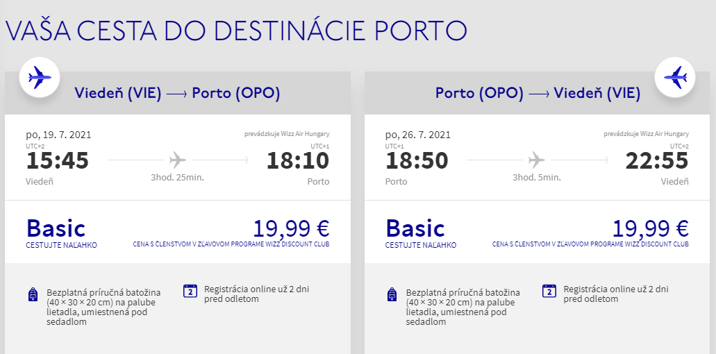 Porto cez letné prázdniny. Letenky z Viedne od 40 eur