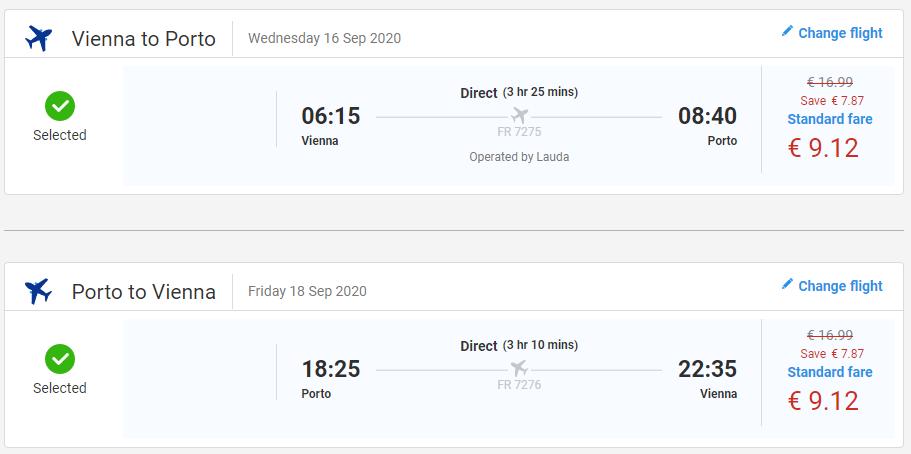 Porto koncom leta. Spiatočné letenky z Viedne už od 18€