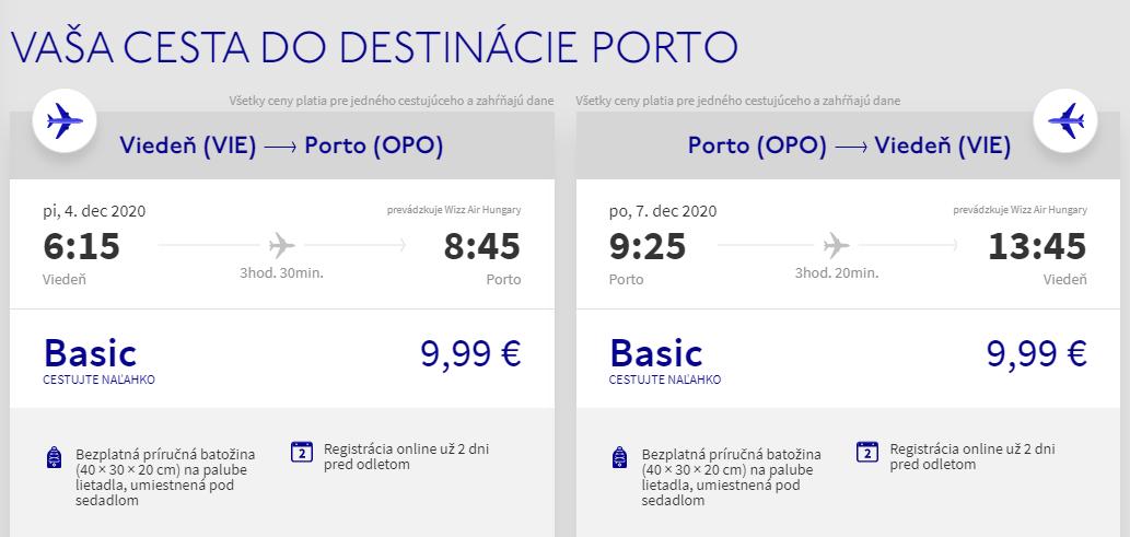 Porto na predĺžený víkend. Letenky z Viedne od 20 eur