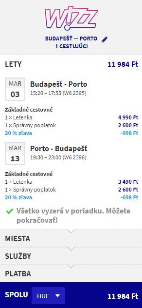 Porto s odletom z Budapešti od 39 eur