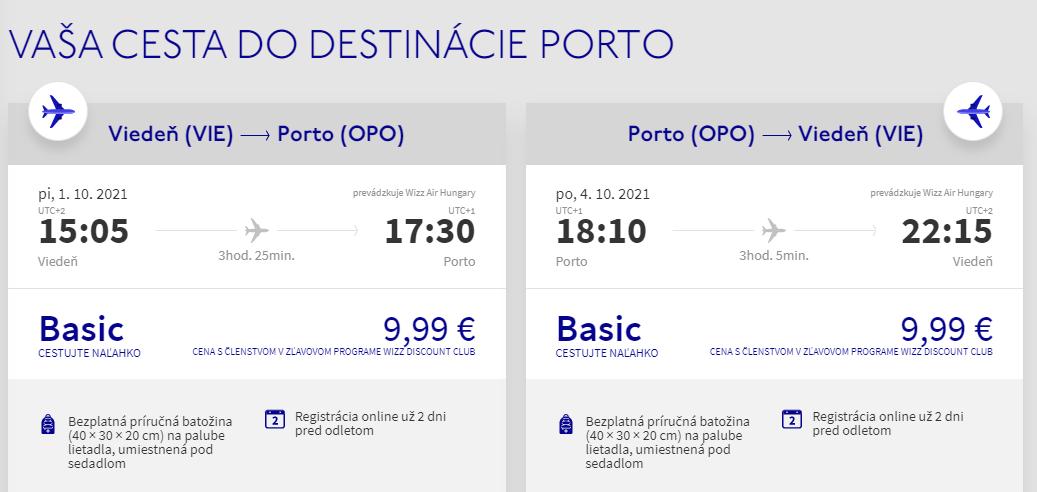 Porto z Viedne aj na predĺžený víkend s letenkami od 20 eur