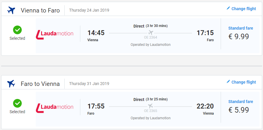 Portugalské Faro z Viedne s letenkami už od 16 eur