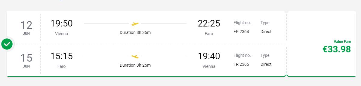 Portugalské Faro začiatkom leta. Spiatočné letenky z Viedne od 34 eur