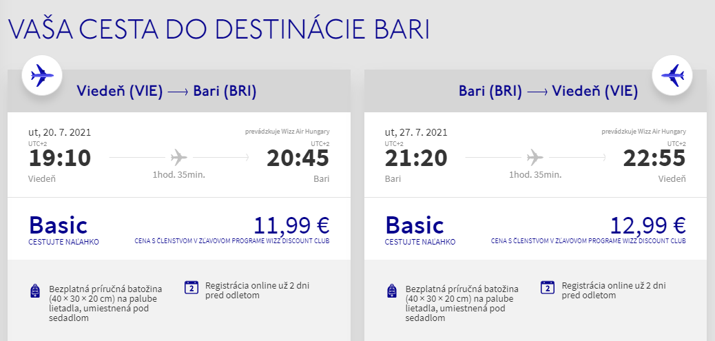 Prázdninová Apúlia - Bari z Viedne s letenkami od 25 eur