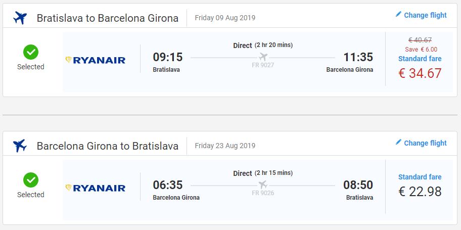 Prázdninová Costa Brava z Bratislavy s letenkami od 58 eur