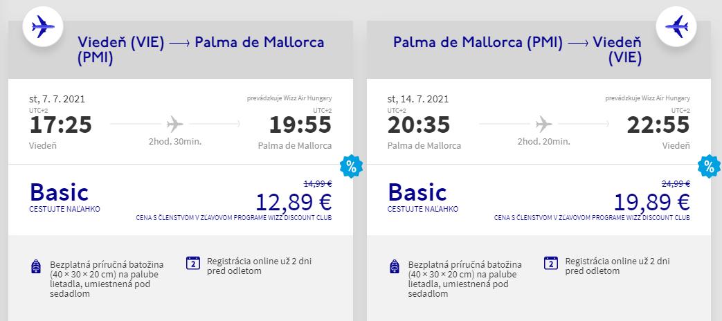 Prázdninová Mallorca z Viedne s letenkami od 33 eur