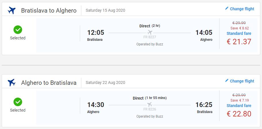 Prázdninová Sardínia. Spiatočné letenky z Bratislavy už od 44 eur