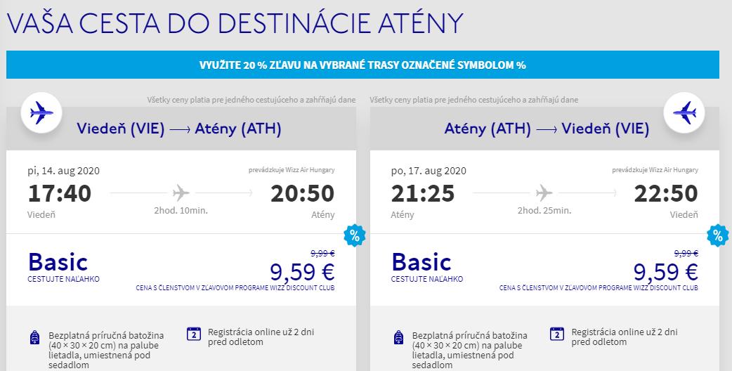 Prázdninové Atény z Viedne aj na predĺžený víkend od 19 eur