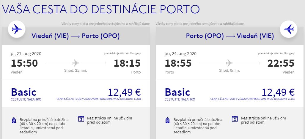 Prázdninové Porto z Viedne. Spiatočné letenky už od 25 eur