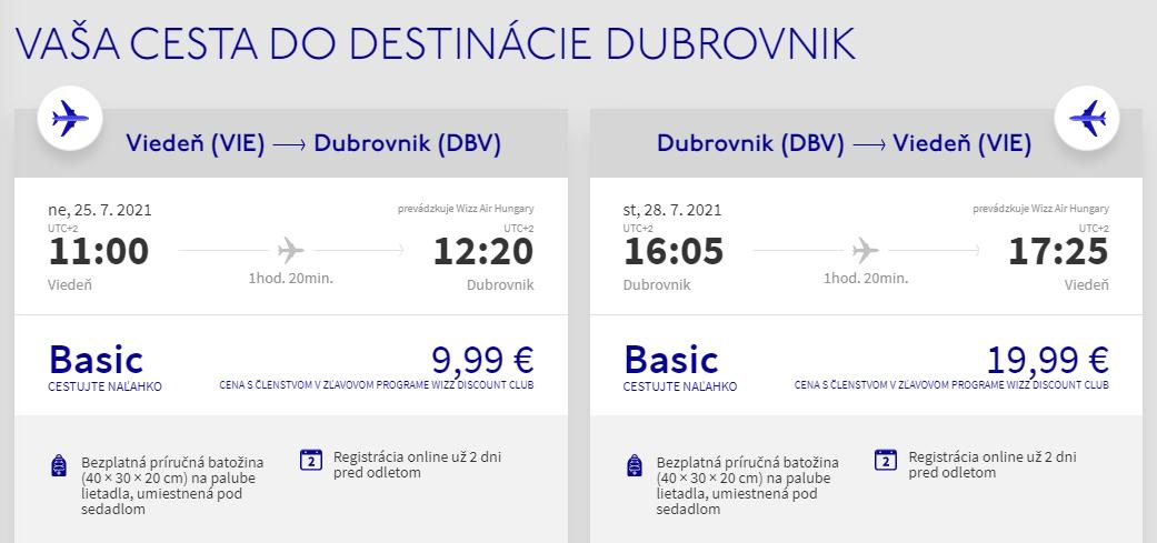 Prázdninový Dubrovník z Viedne s letenkami od 30 eur
