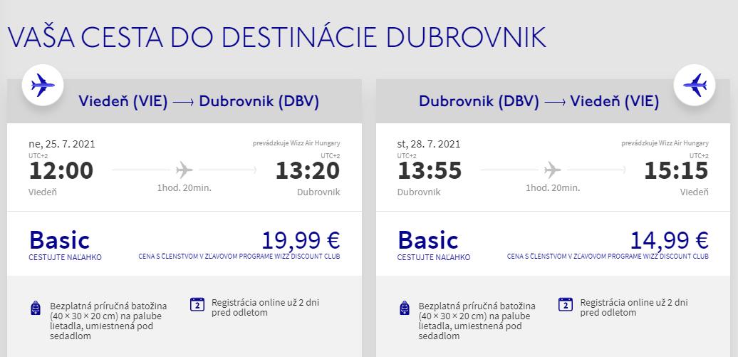 Prázdninový Dubrovník z Viedne s letenkami od 35 eur