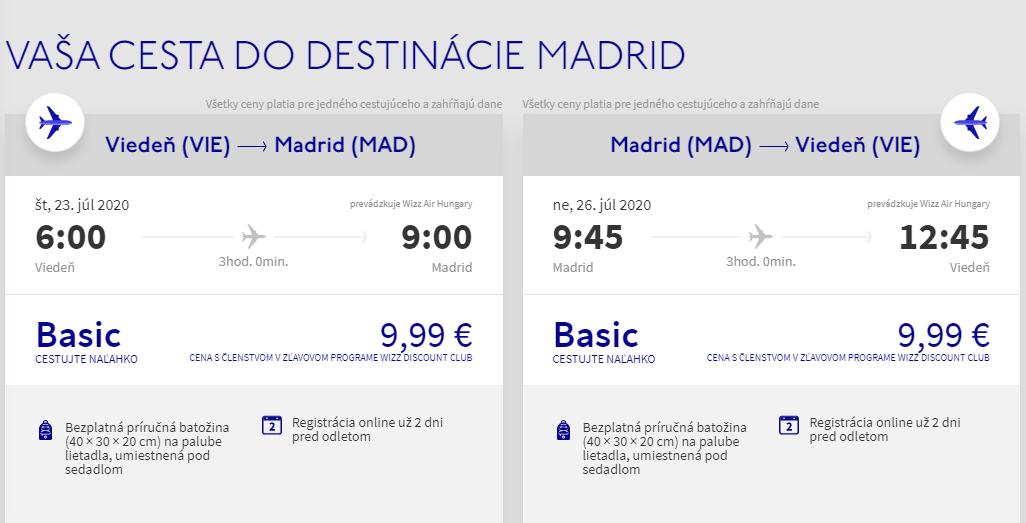 Prázdninový Madrid z Viedne aj na predĺžený víkend s letenkami od 20 eur
