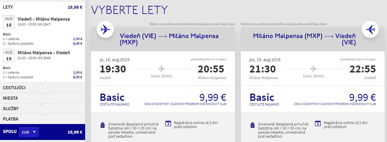 Prázdninový víkend v Miláne s letenkami z Viedne od 20 eur