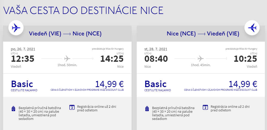 Prázdniny na Francúzskej riviére. Letenky z Viedne do Nice od 30 eur