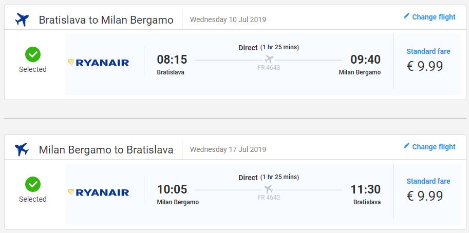 Prázdniny v talianskej Lombardii. Letenky z Bratislavy do Bergama od 20 eur