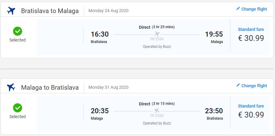 Prazdninová Andalúzia z Bratislavy. Letenky do Malagy od 62 eur