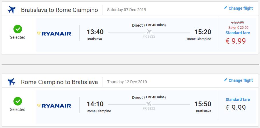 Predvianočný Rím. Letenky z Bratislavy už od 20 eur